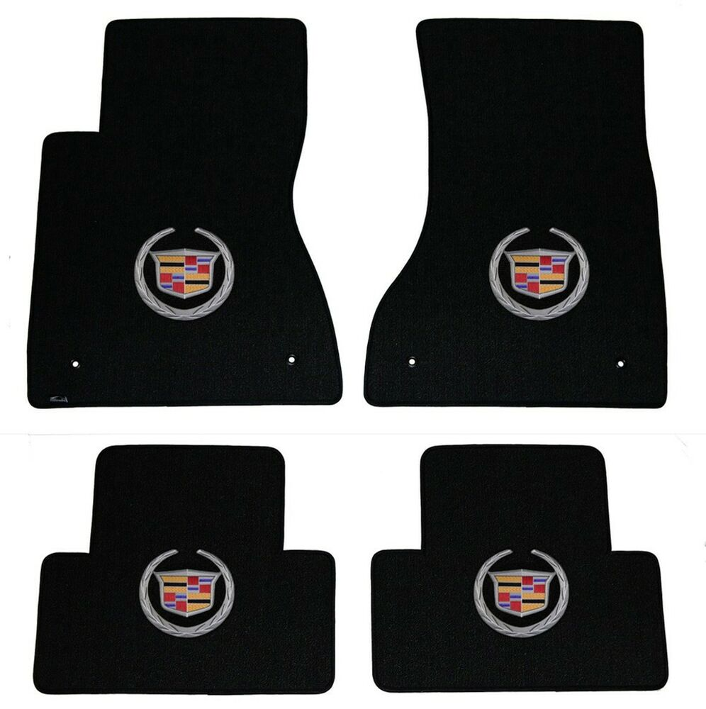 NEW! BLACK FLOOR Mats 2003-2007 Cadillac CTS Silver Crest