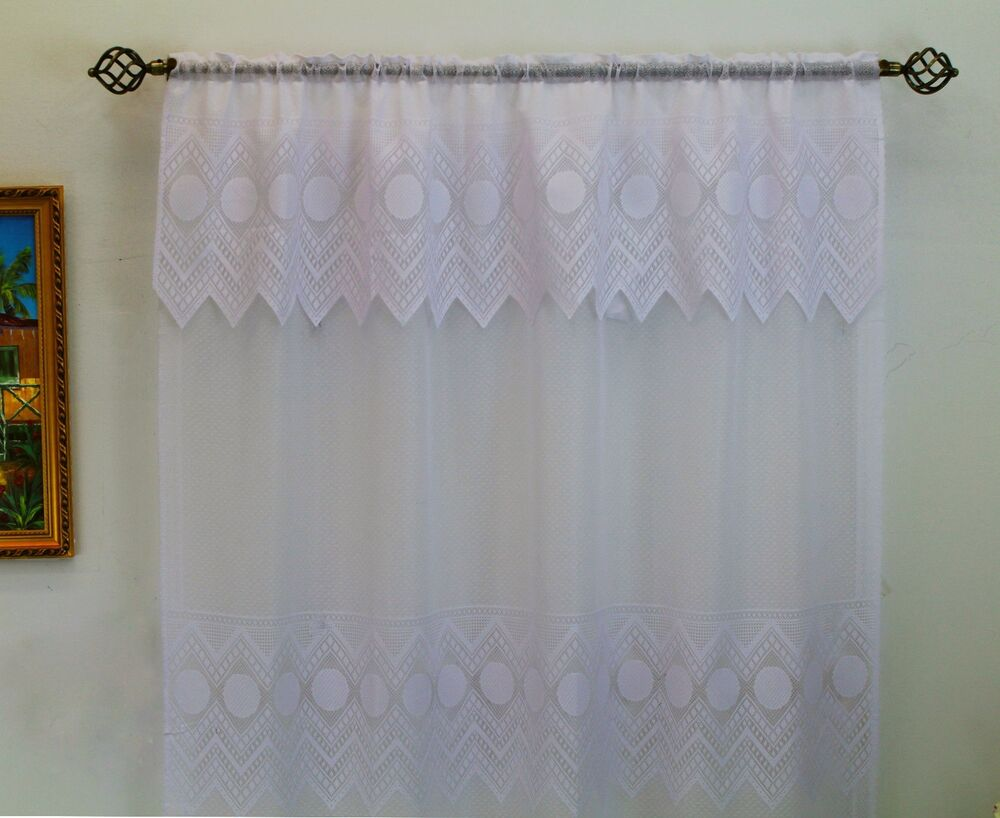Thf Lace Panel 59 Quot X 84 Quot With 16 Inch Attached Valance