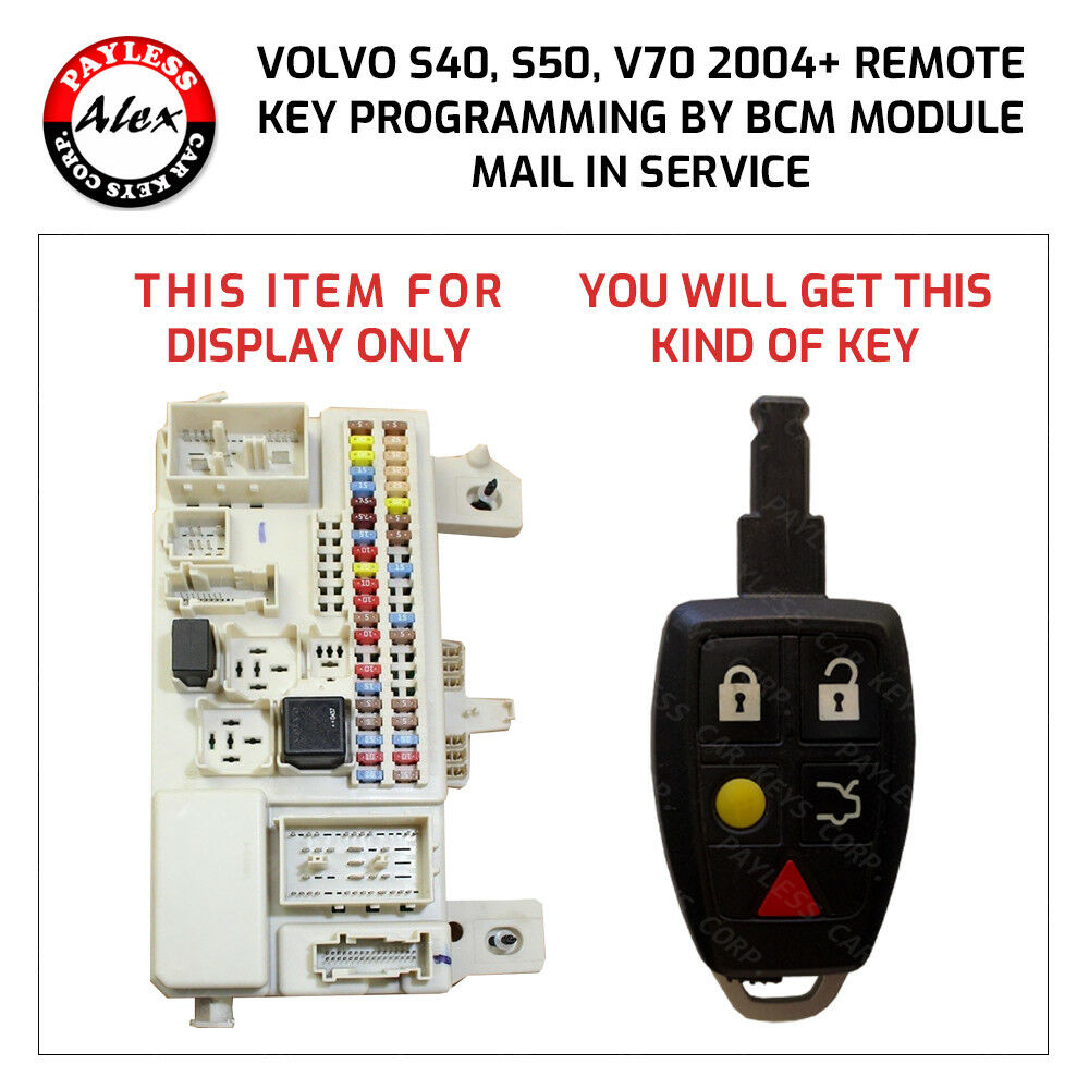 volvo s40, s50, c30, c70 remote key by the bcm module programming ebaydetails about volvo s40, s50, c30, c70 remote key by the bcm module programming