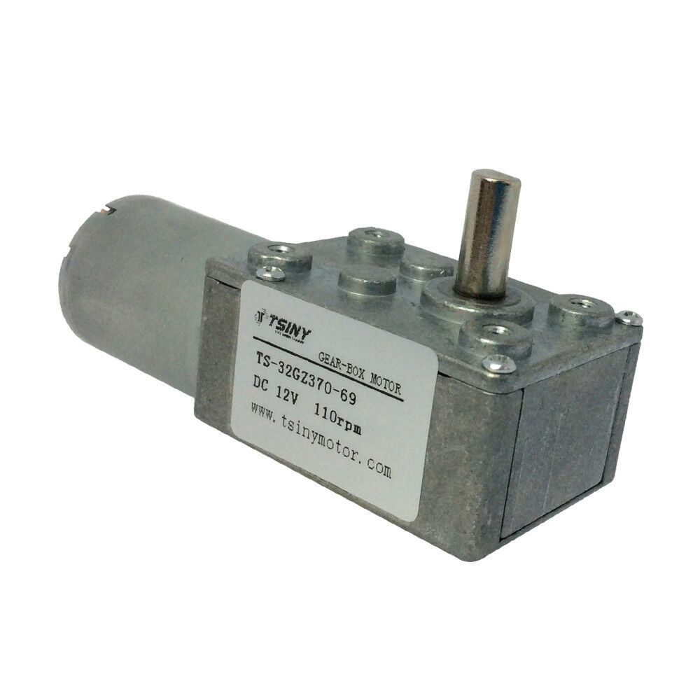12v 110rpm Small Worm Reduction Geared Motor Electric Dc
