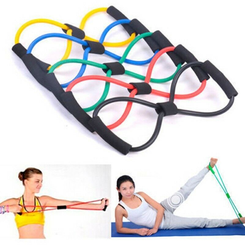 Workout Bands Com: Tube Workout Exercise Elastic Resistance Band Useful