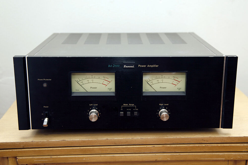 sansui ba2000 power amplifier made in japan ebay. Black Bedroom Furniture Sets. Home Design Ideas