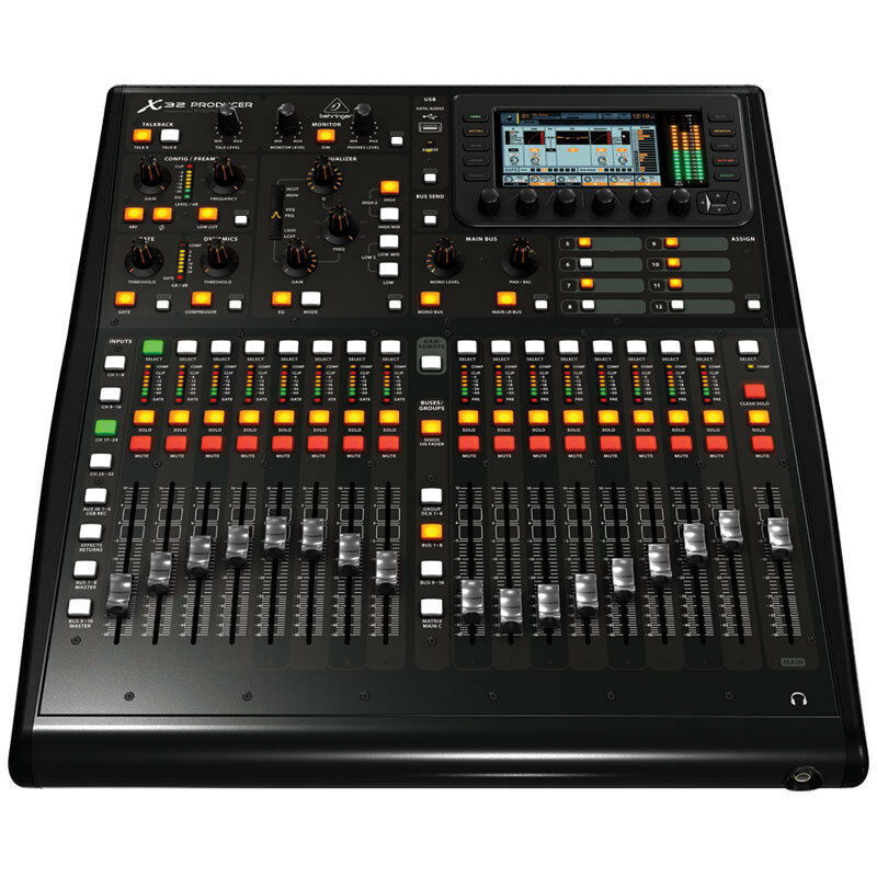 behringer x32 producer 32 channel digital mixer console usb firewire studio live ebay. Black Bedroom Furniture Sets. Home Design Ideas