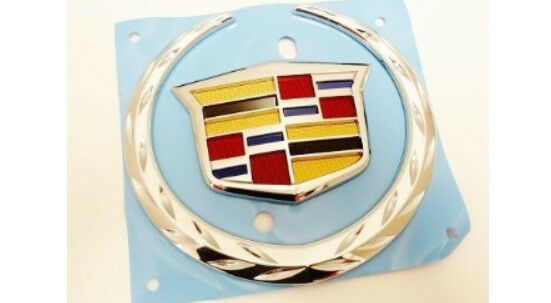 "Universal For Cadillac Car Front Grille Wreath/&Crest Emblem Badge 5.2/"""" X 6.2/"""