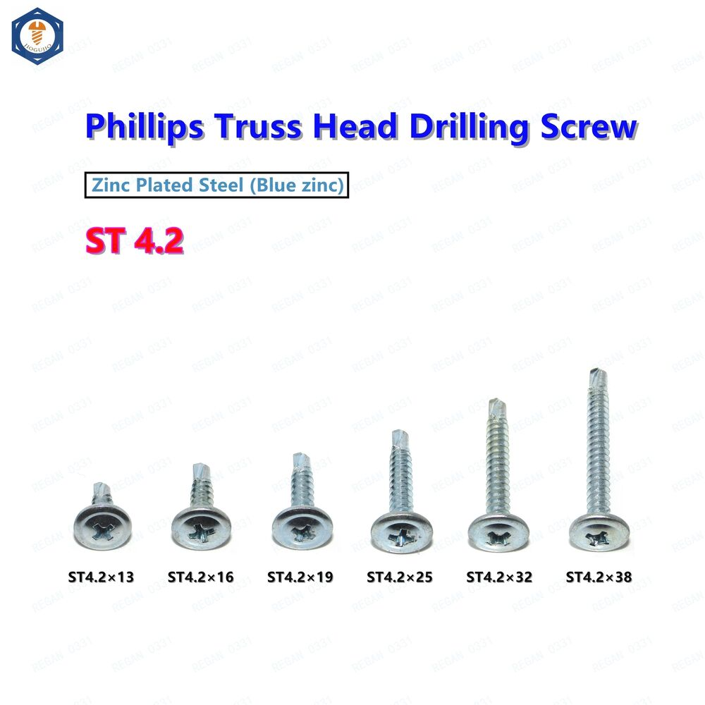 m4 2 self drilling tapping screws phillips truss head round washer head ebay. Black Bedroom Furniture Sets. Home Design Ideas