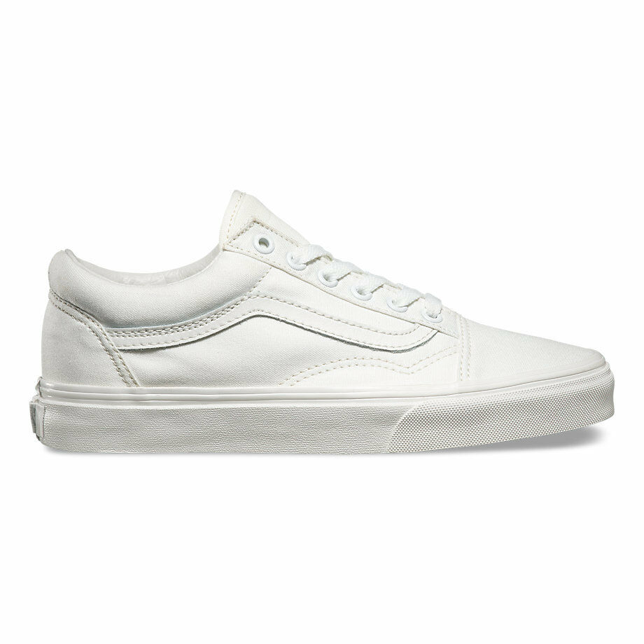 52fabaea08db59 Details about Vans Old Skool True White Skateboarding Shoes Classic Canvas  Fast shipping