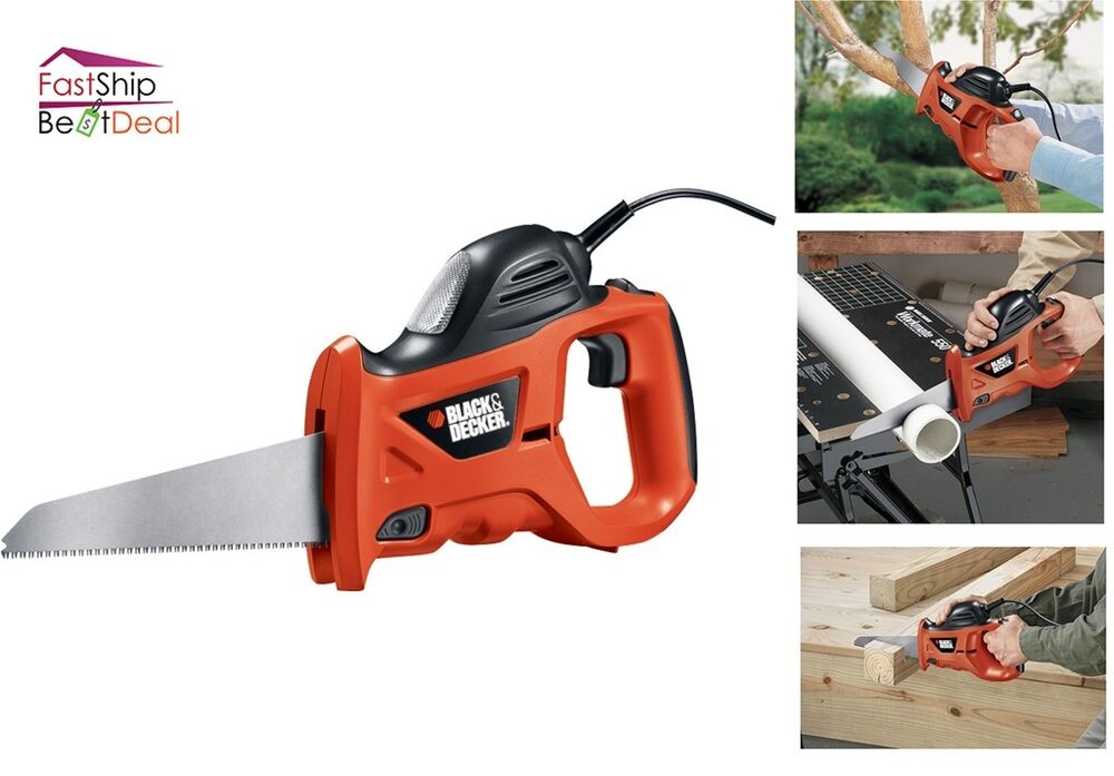 Wood Tools For Cutting Firewood ~ Black and decker power hand saw carpenter tool cut wood