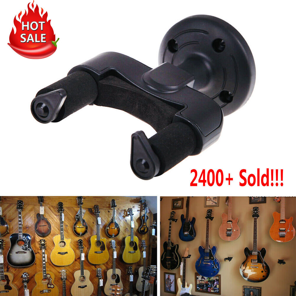 electric guitar wall hanger holder stand rack hook mount for all size guitar 733180800817 ebay. Black Bedroom Furniture Sets. Home Design Ideas