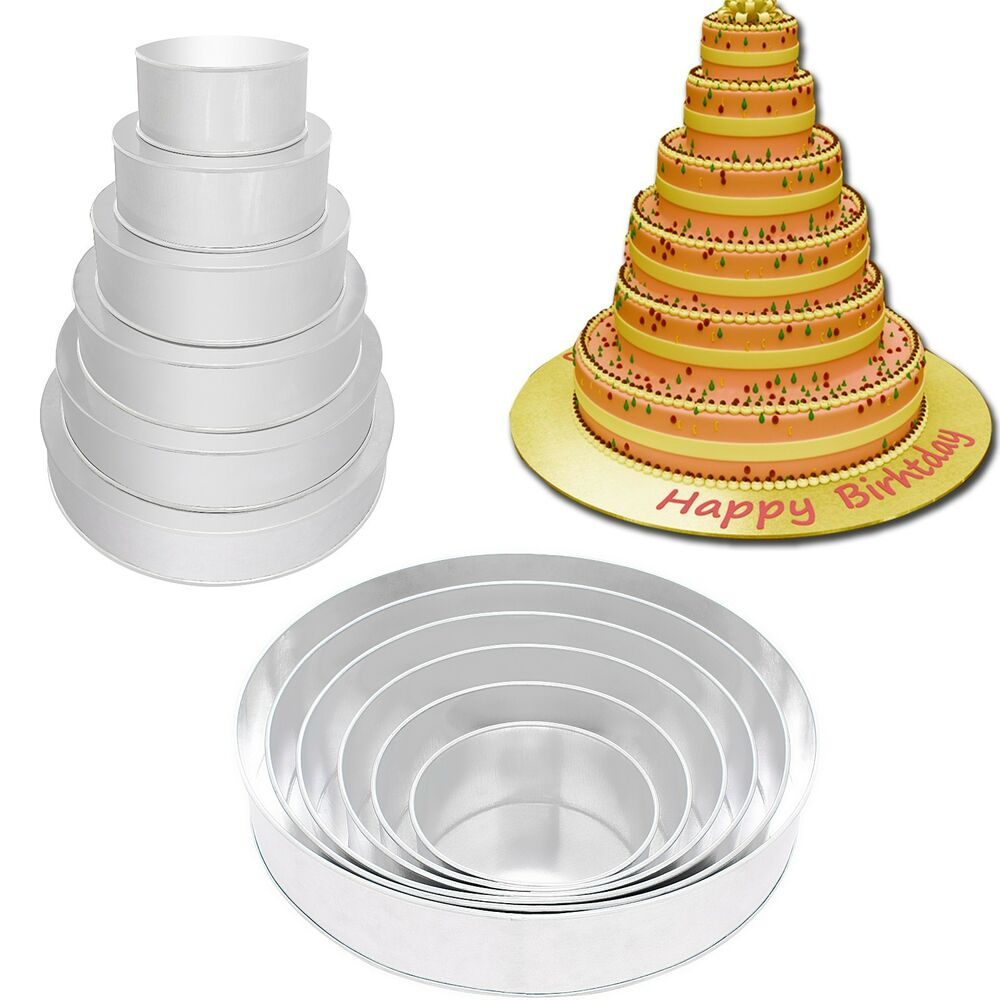 round wedding cake pans set of 6 shape cake baking pans by tins 6 7145
