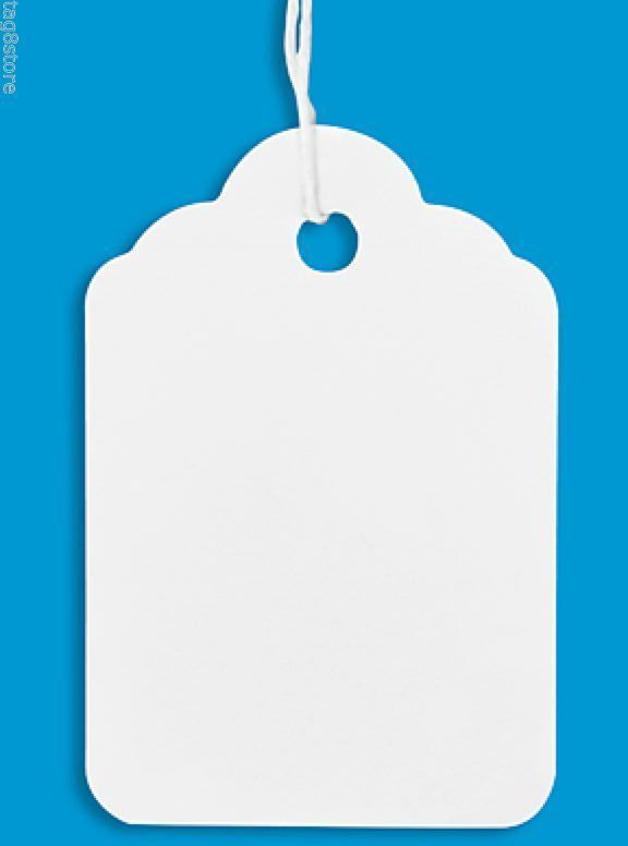 100 white price tag merchandise tags blank w   strings