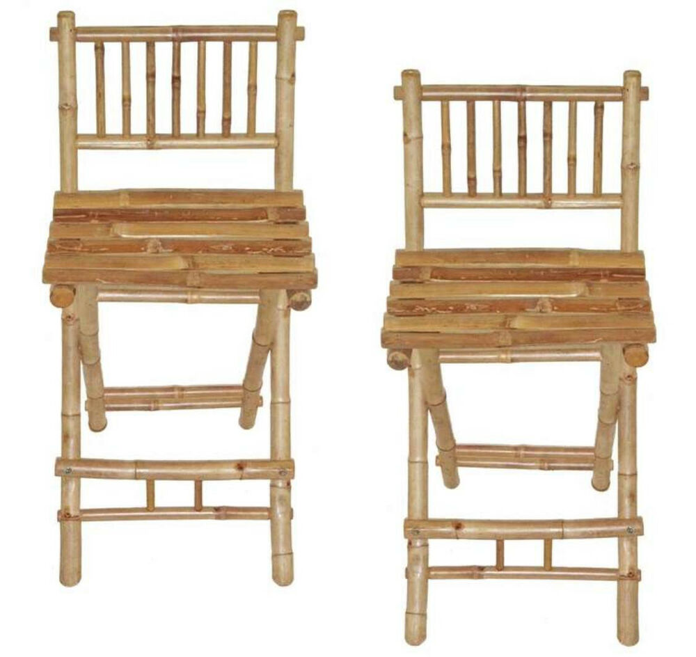 Bamboo Bar Chairs Stools Tiki Bar Style Natural Color