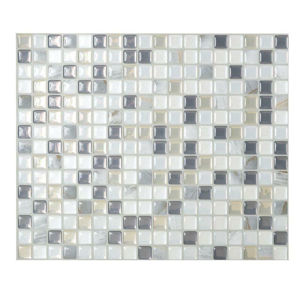 Smart tiles sm1036 1 self adhesive wall tiles 1 sheet for Peel and stick wallpaper squares