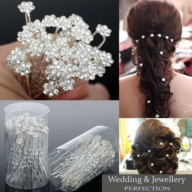Shengxueer 30pcs Crystal Small Flower Hairpins Wedding Bridesmaid Prom Hair Clip Grips (Navy)Reviews: 1.