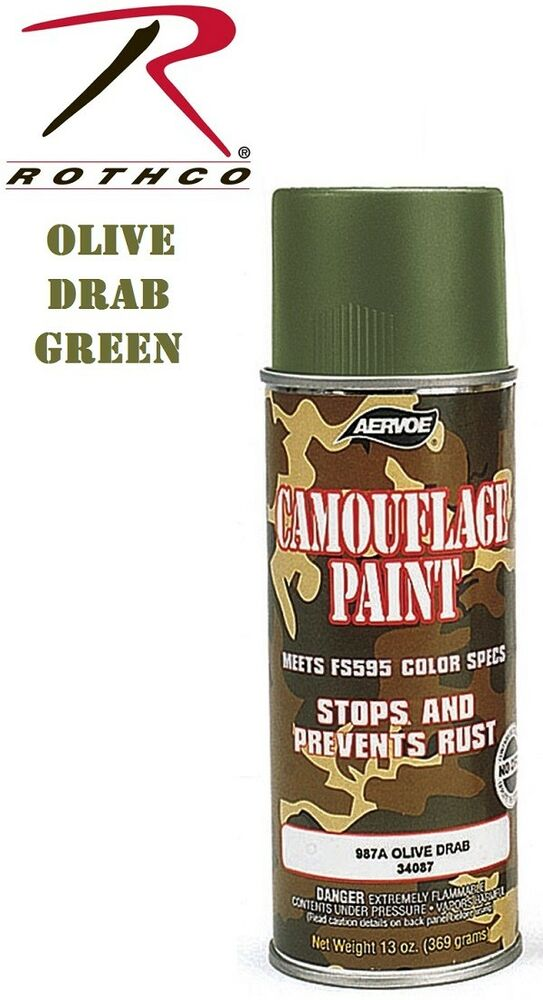 od green camouflage 12 oz aerosol can spray paint can 8223 ebay. Black Bedroom Furniture Sets. Home Design Ideas