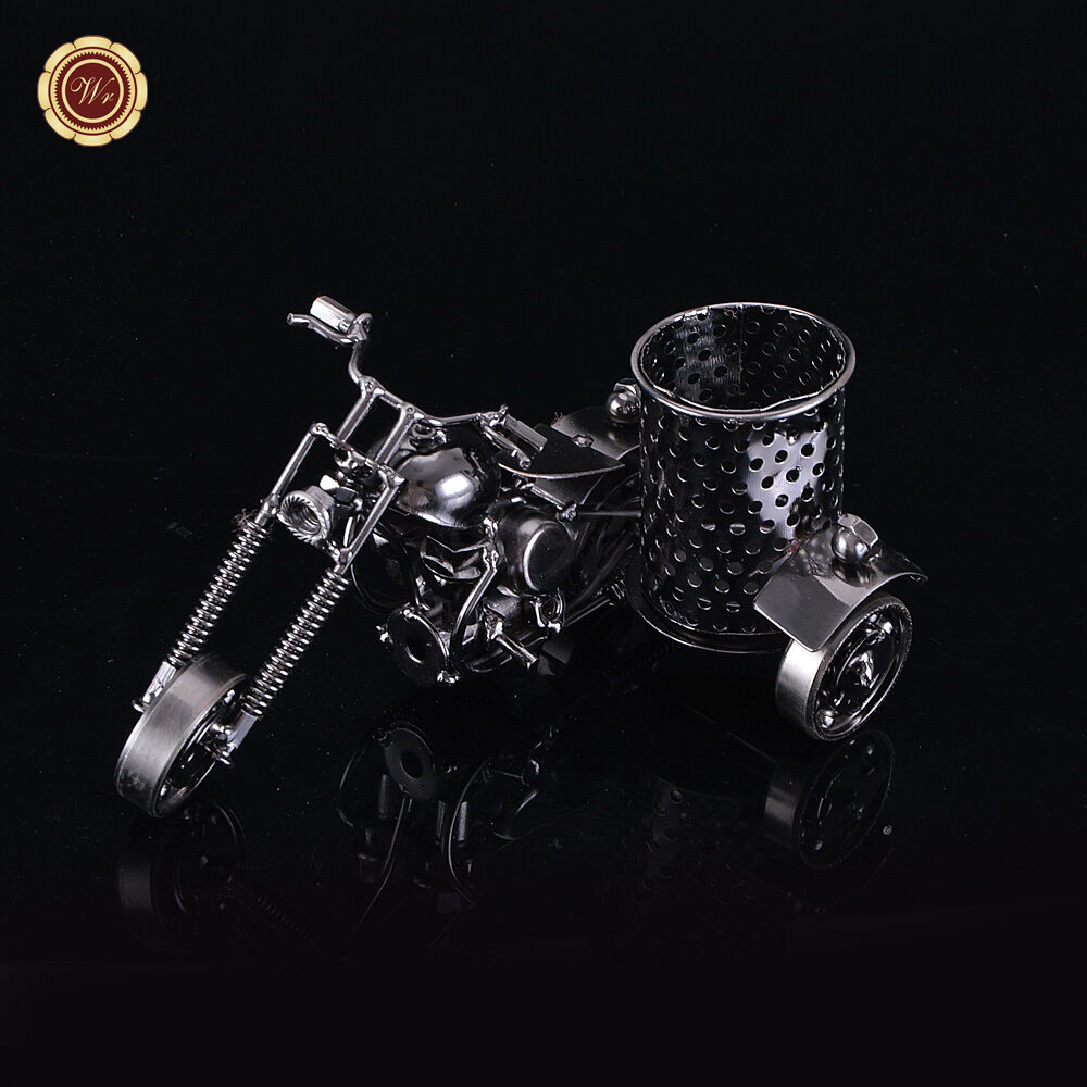 harley davidson metal motorcycle model pen holder office desktop accessories ebay. Black Bedroom Furniture Sets. Home Design Ideas