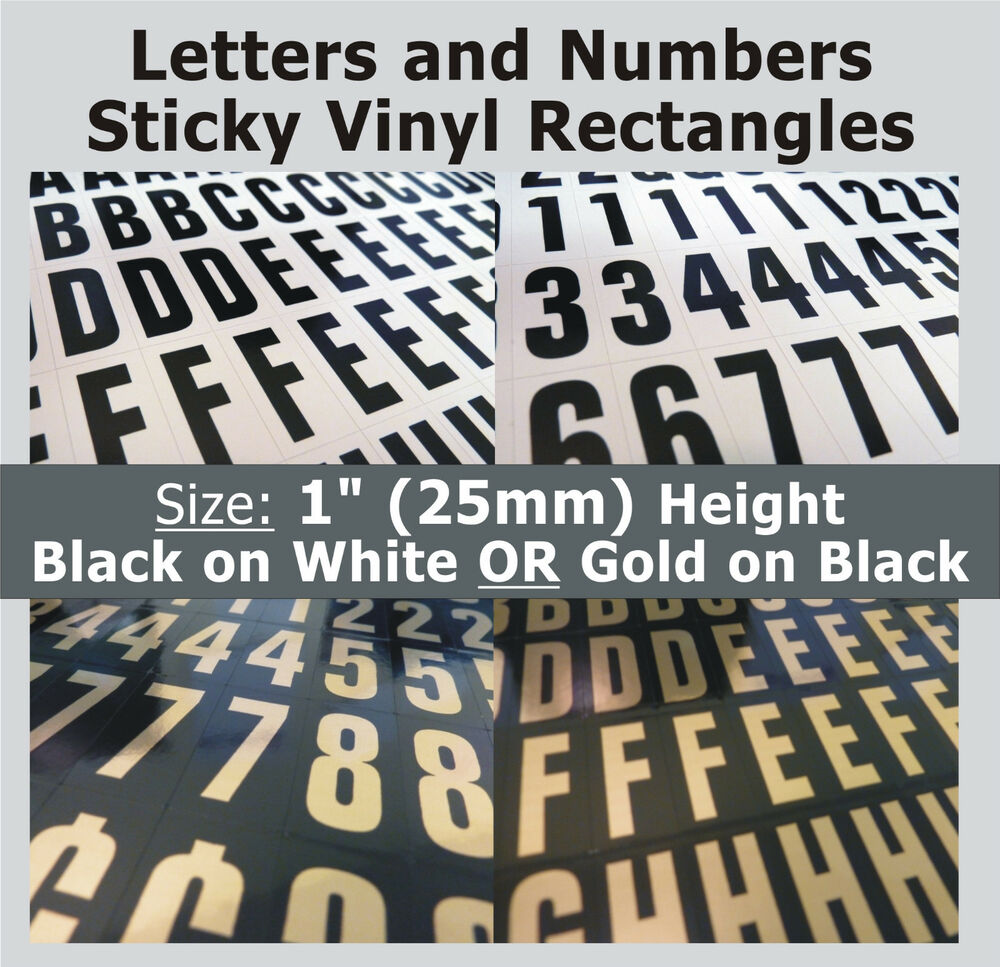 234 x sticky letters and numbers 1quot self adhesive With vinyl adhesive letters and numbers