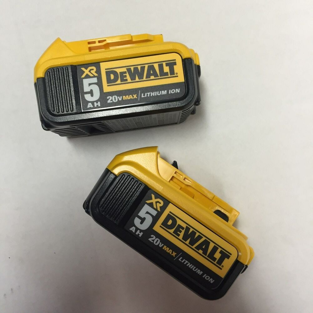 dewalt 2 pack of 20 volt max xr 5 amp lithium ion. Black Bedroom Furniture Sets. Home Design Ideas