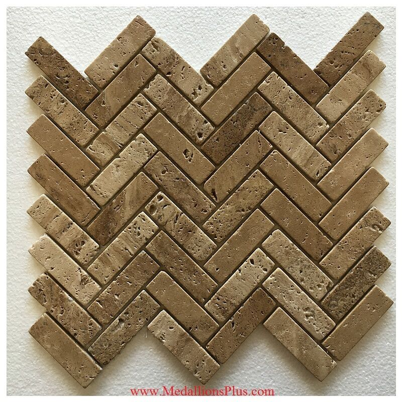 herringbone travertine honed mosaics backsplash polished