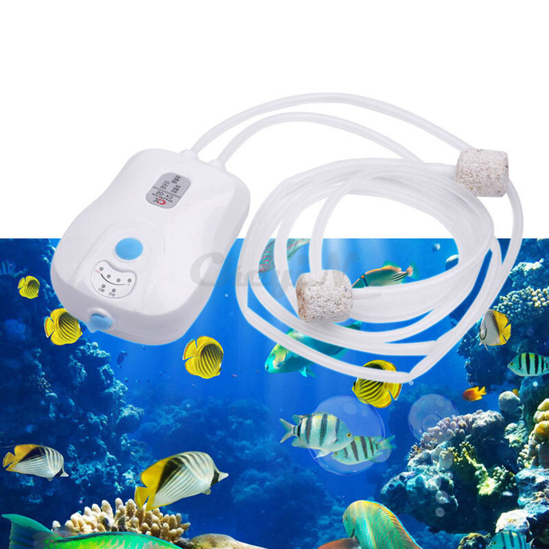 Ultra silent rechargeable double oxygen air bubbles pump for Portable koi pond