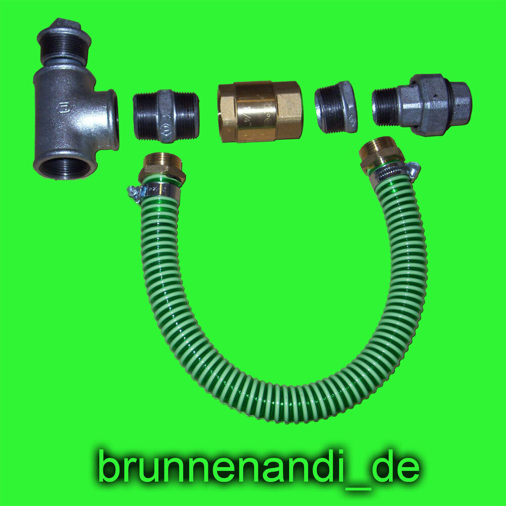 anschlu set e pumpe brunnenbau hauswasserwerk gartenpumpe jet pumpe wasser ebay. Black Bedroom Furniture Sets. Home Design Ideas
