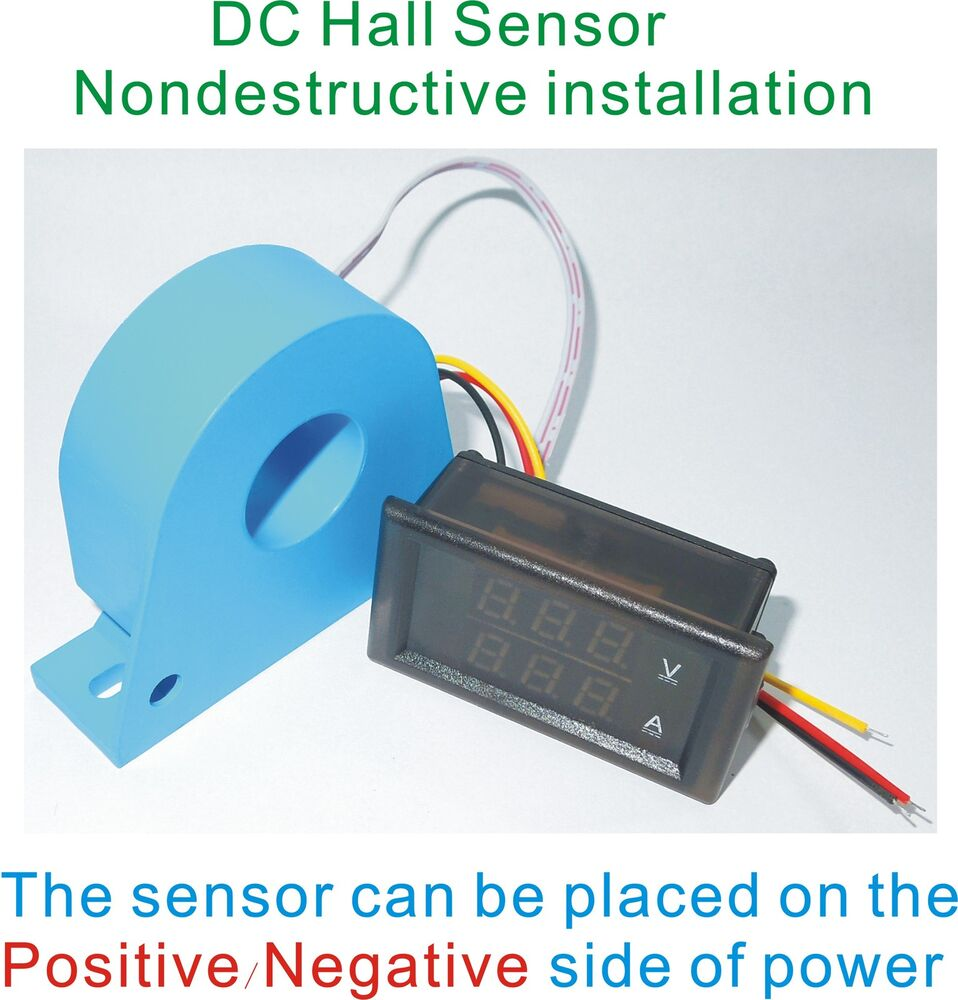 DC Combo Meter With Hall Sensor Positive Negative Current ± 500A ...