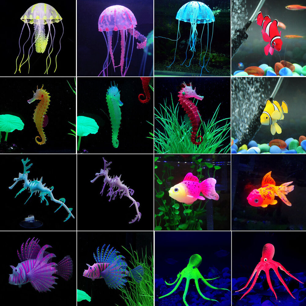 Artificial jellyfish octopus goldfish ornaments water fish for Aquarium decoration for goldfish