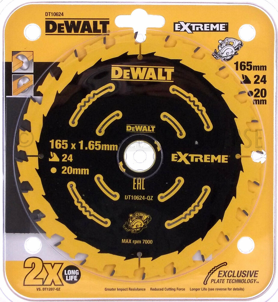 dewalt dt10624 extreme s geblatt 165 x 20 mm 24 z f r handkreiss ge ebay. Black Bedroom Furniture Sets. Home Design Ideas