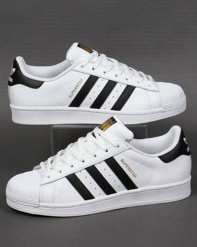 Adidas Originals Originals Top Ten Low Sneaker In Black: Adidas Superstar Trainers In White