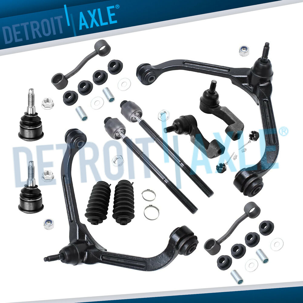 12pc Front Upper Control Arm Ball Joint Tierod Sway Link For 02 04 Jeep Liberty Ebay