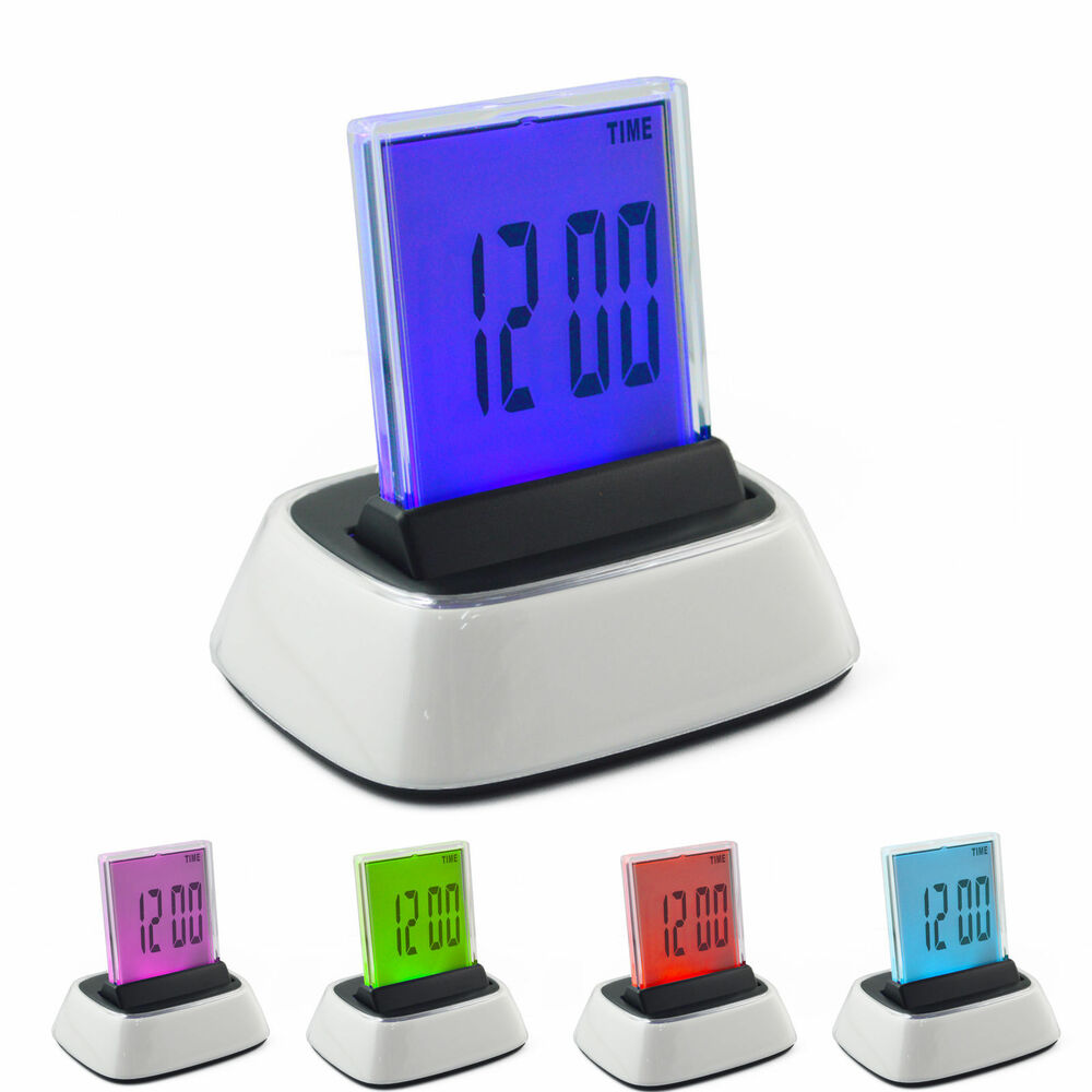 Lcd Digital Clock Thermometer Calendar Snooze Alarm Table