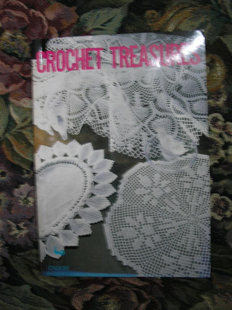 Book Cover Crochet Uk : Crochet treasures pattern book by ondori for table
