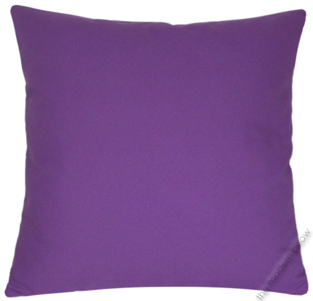 Throw Pillow Case 20 X 20 : Purple Violet Solid Decorative Throw Pillow Cover/Cushion Cover/Cotton/20x20