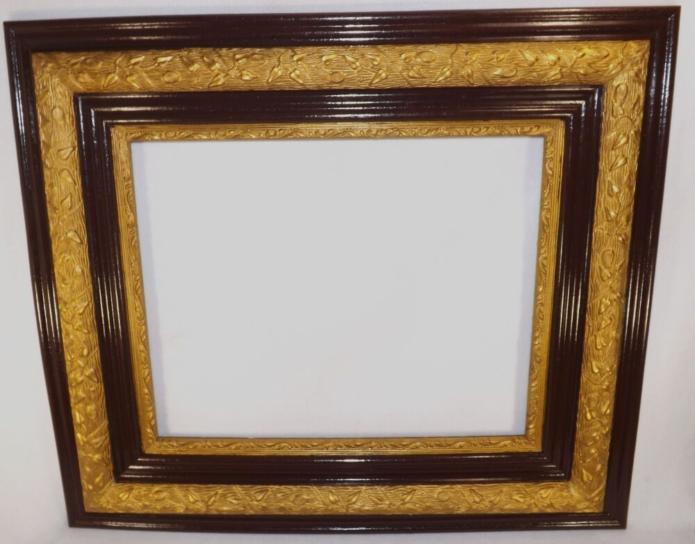 Beautiful antique large oak gold gesso picture frame for Large a frame