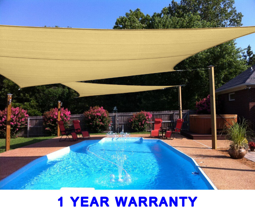 Quictent 24x24 39 Square Rectangle Sun Shade Sail Canopy