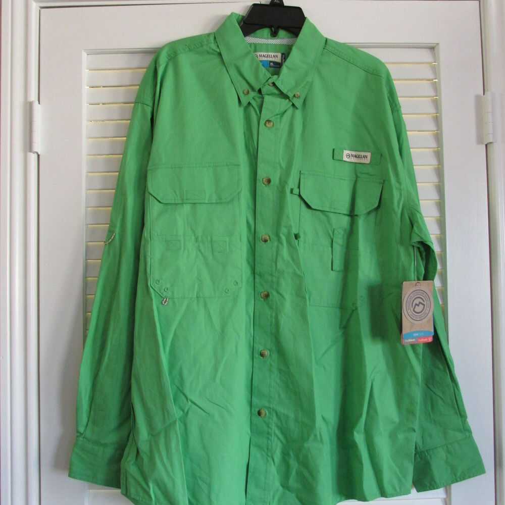 Magellan l s fish gear fishing shirt upf 20 2xl 15 ebay for Magellan fishing shirts
