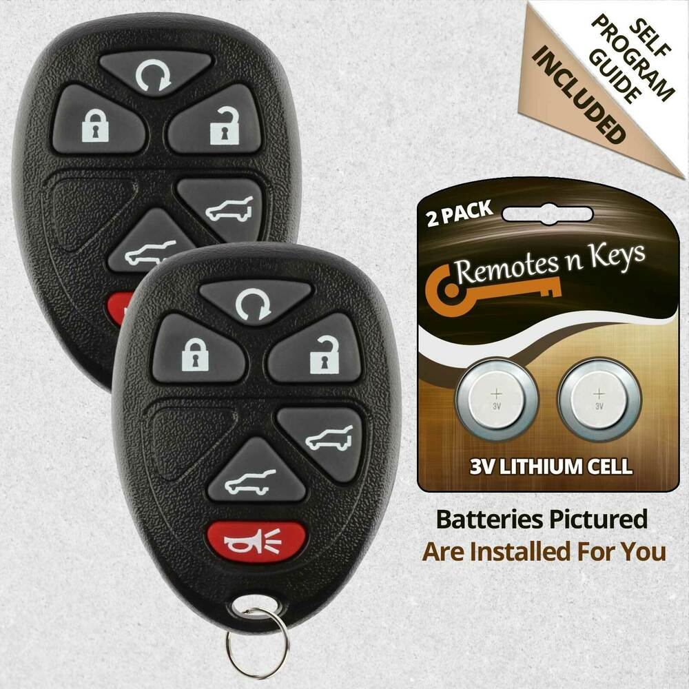 2 New Replacement Remote Start Keyless Entry Car Key Fob