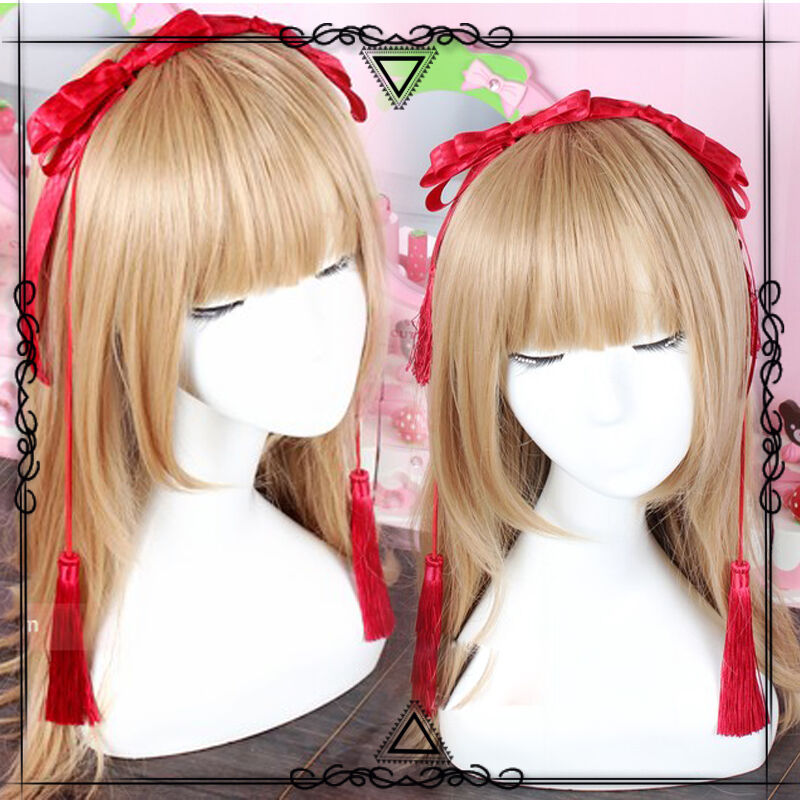 Japanese Sweet Lolita Princess Bow Tassel Red Handmade