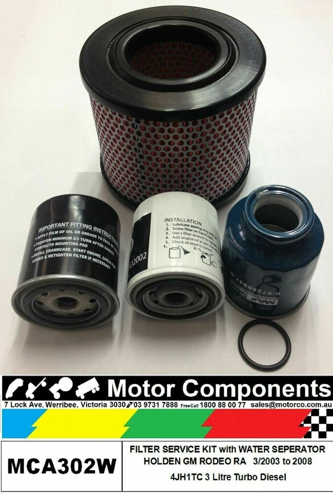 Filter Kit With Water Separator Holden Rodeo Ra 4jh1tc 3l