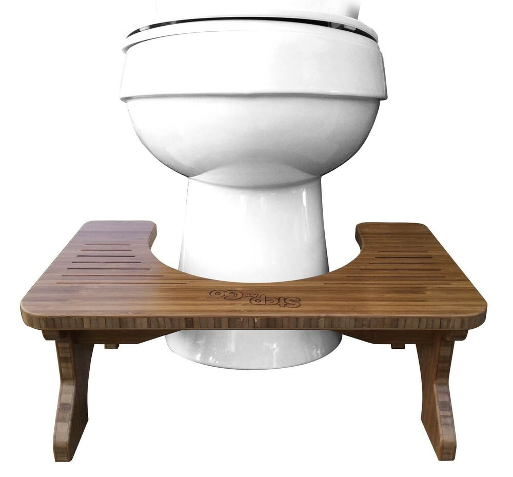 Toilet Stool For Squatting Step And Go 174 Bamboo Ebay