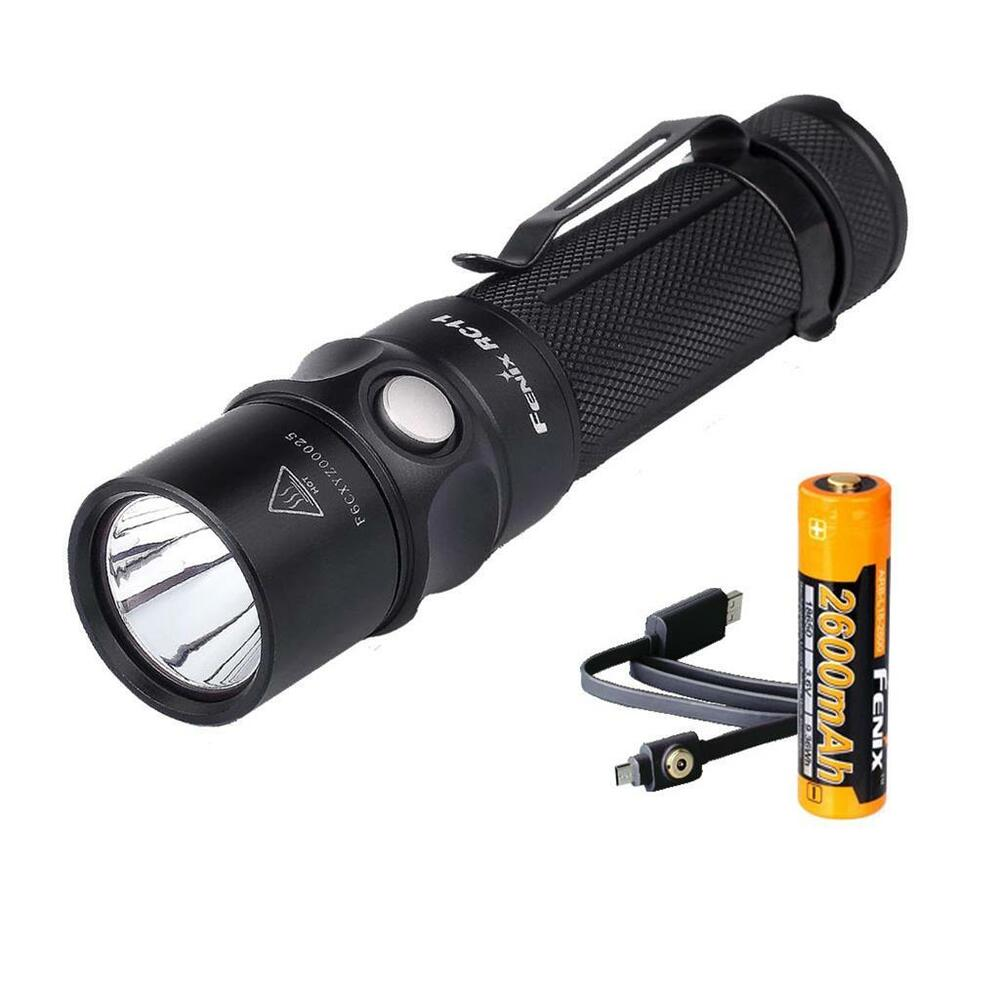 fenix rc11 1000 lumens usb rechargeable led flashlight w 1x 18650 battery ebay. Black Bedroom Furniture Sets. Home Design Ideas