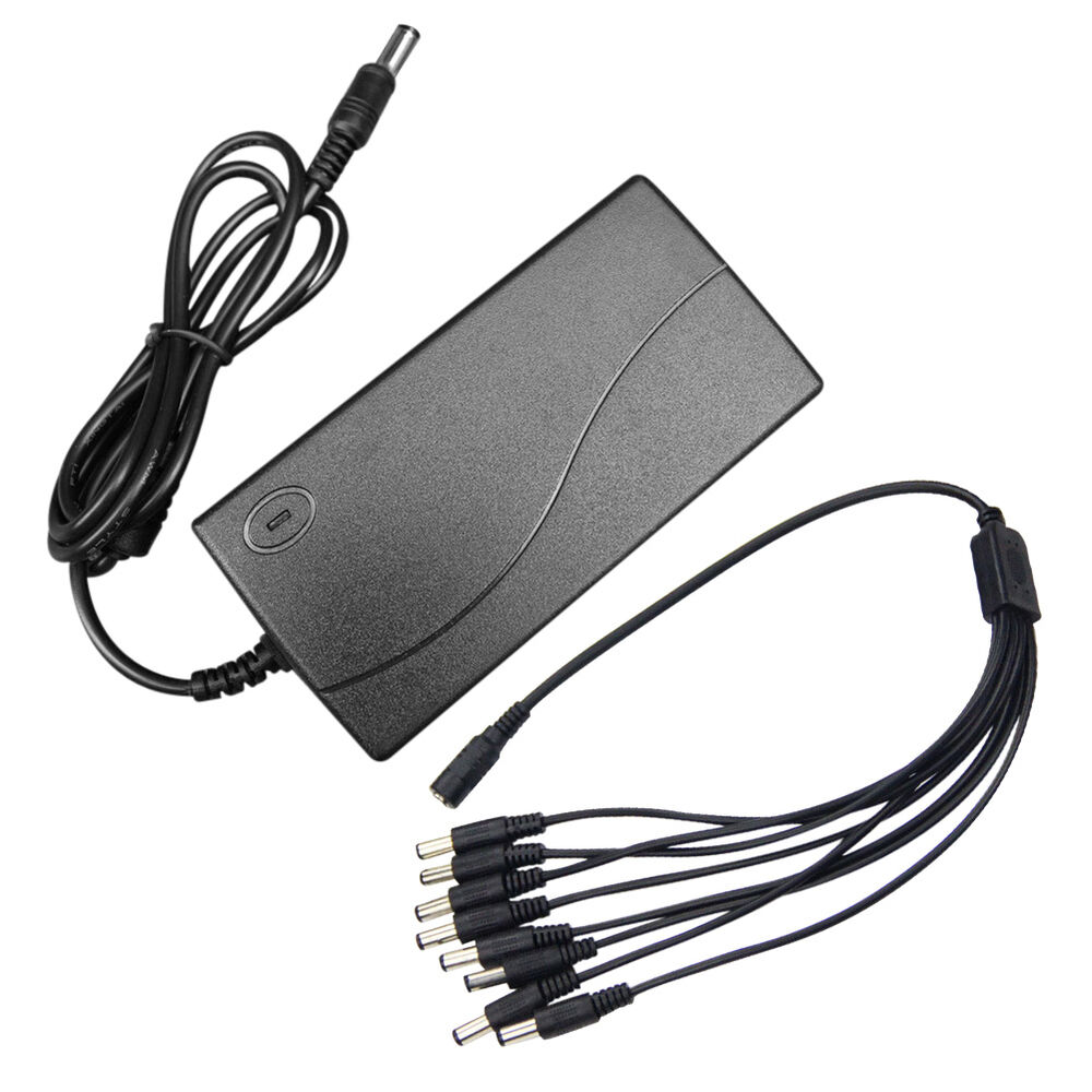 Power Cable For Security Camera : Split power cable dc v a supply adapter for