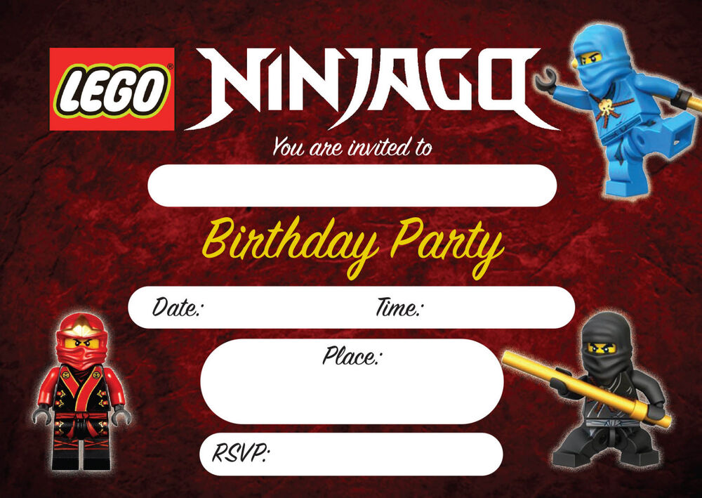 Lego Invitations – Ninjago Party Invitations