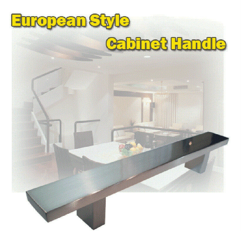 12 stainless steel finish kitchen cabinet pull handle ebay for Kitchen cabinets ebay