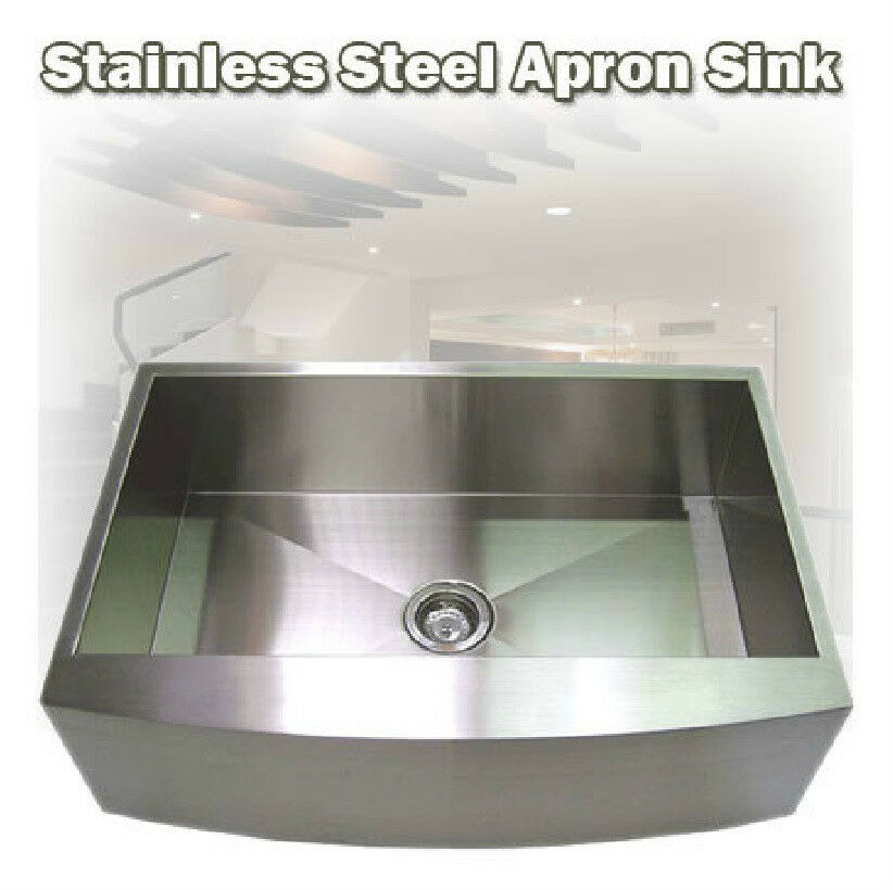 stainless steel apron front kitchen sinks 33 quot apron front stainless steel farmhouse kitchen sink ebay 9384
