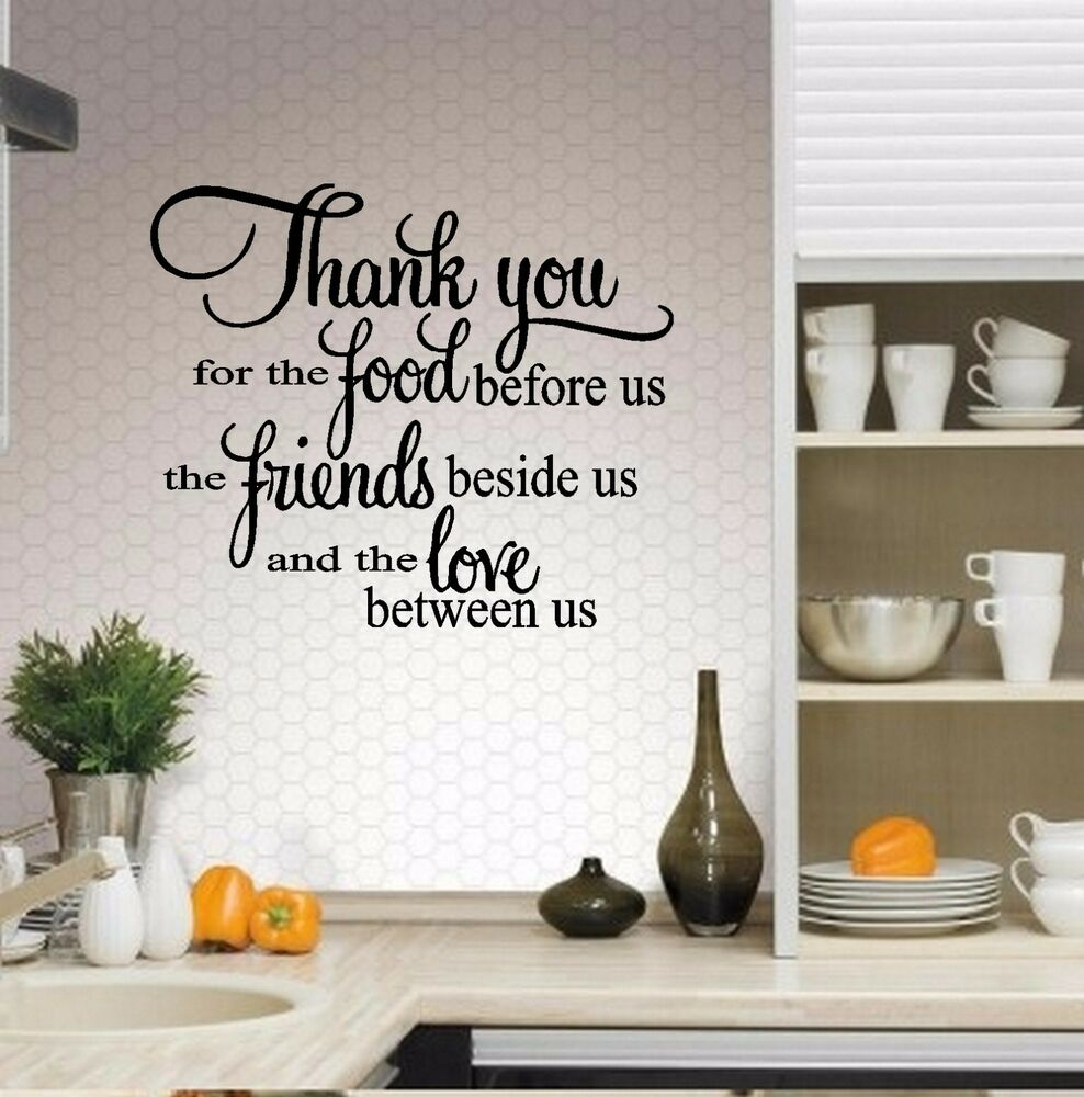 Thank you for the food ~ Wall or Window Decal