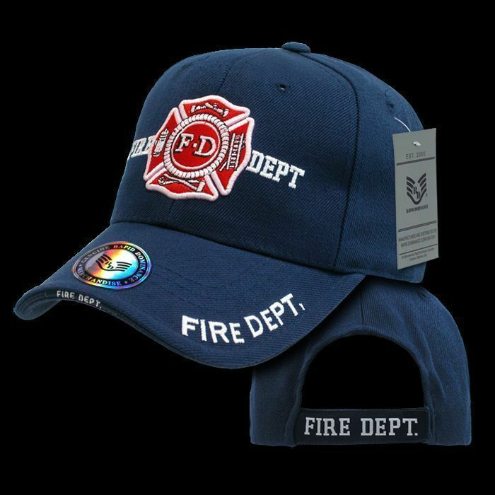 Fire Department Hat Ball Cap American Rescue Firefighter