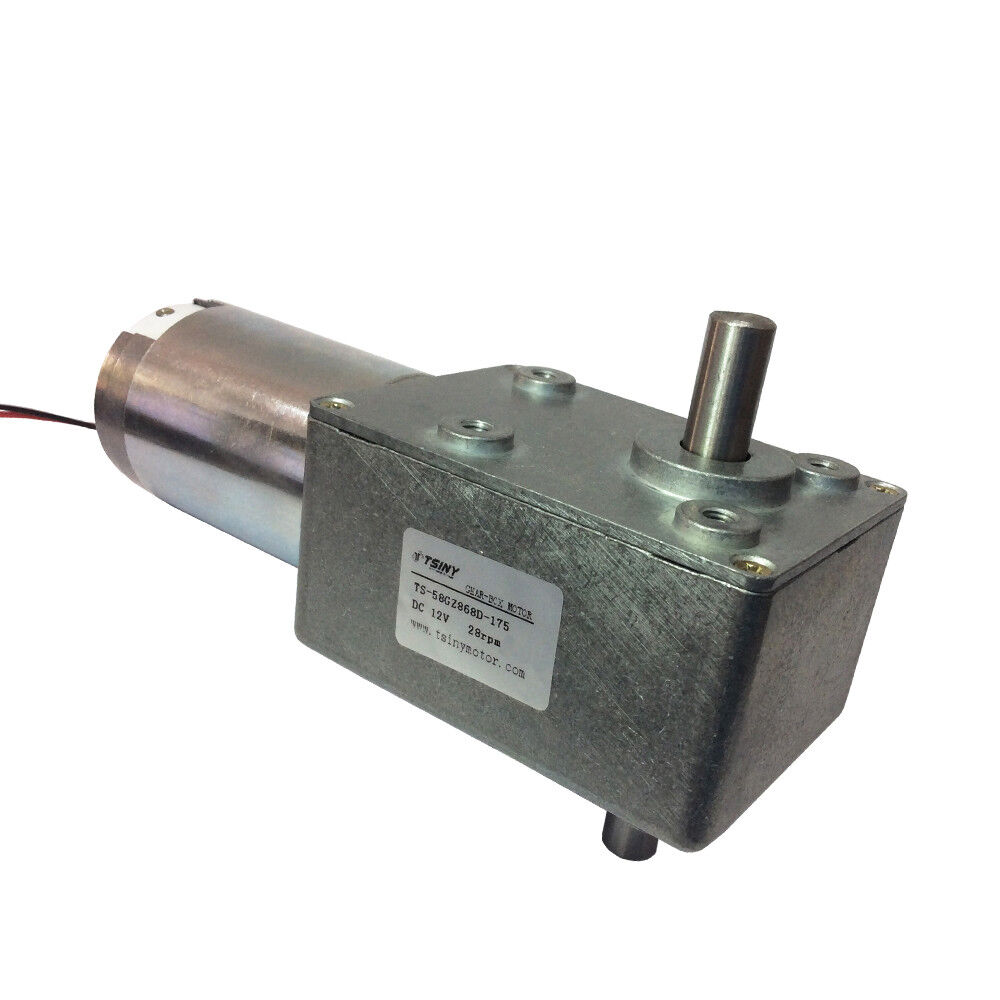 Dc 12volt worm gear reducer motor 12v 28rpm high torque for 12 volt high torque motor