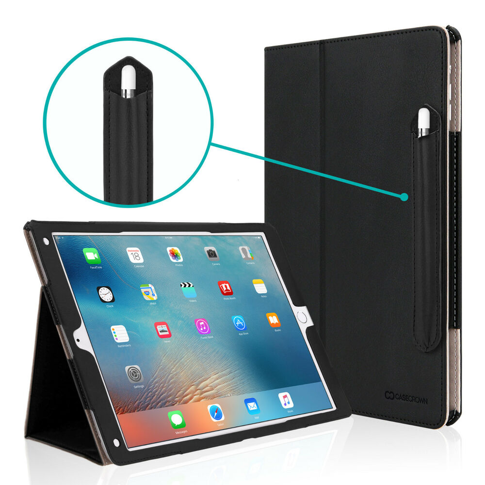 casecrown bold standby pro stand case for apple ipad pro tablet 9 7 12 9 ebay. Black Bedroom Furniture Sets. Home Design Ideas