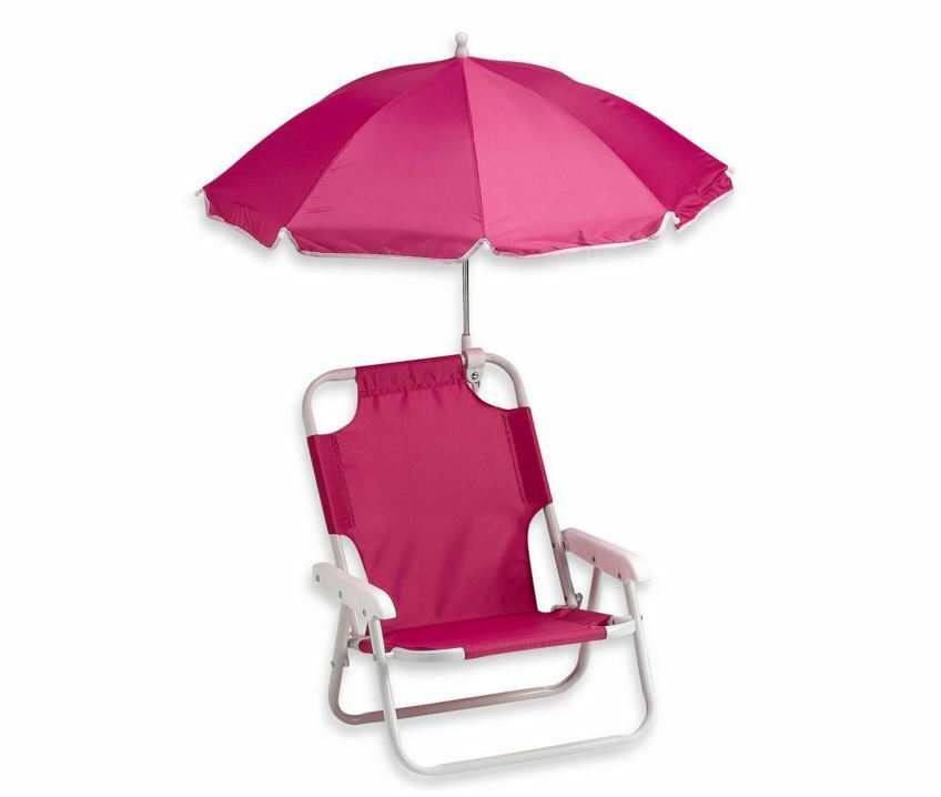 Baby Beach Chair With Umbrella Pink Lounge Patio Chairs