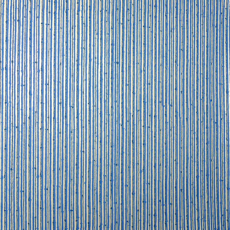 mid century modern wallpaper vintage blue pinstripe pop art big roll 80 sqft ebay. Black Bedroom Furniture Sets. Home Design Ideas